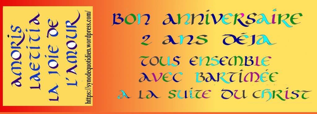 marque page pour l'anniversaire d'Amoris laetitia